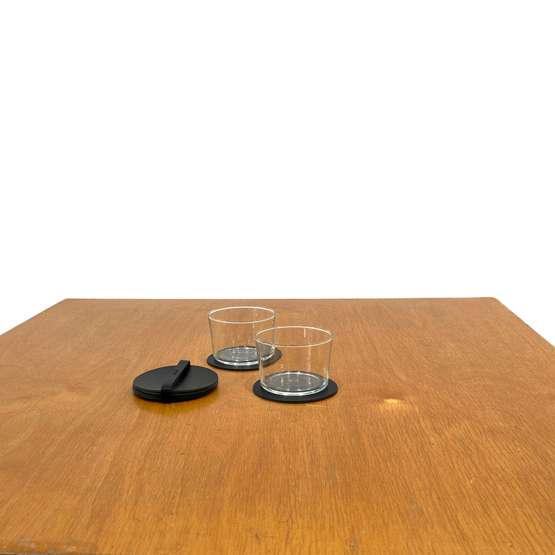 N°1040 Round coasters with leather tie