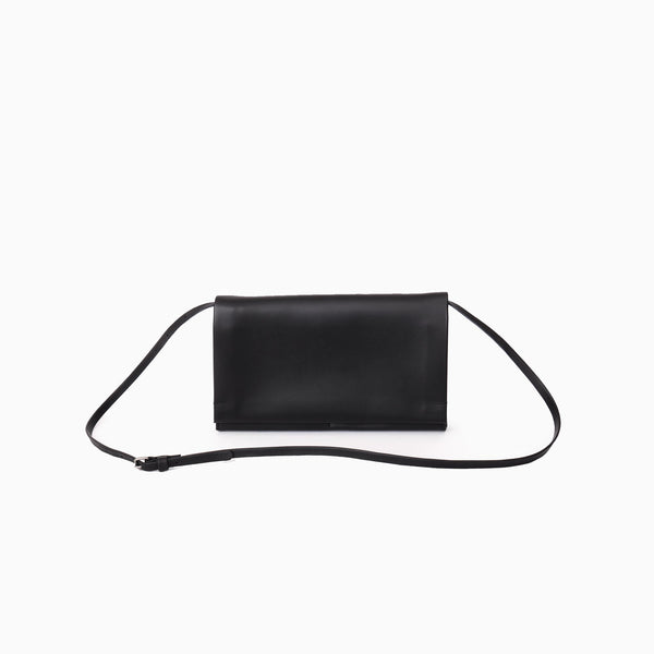 N°822 MEDIUM PLEATS  CLUTCH WITH BELT