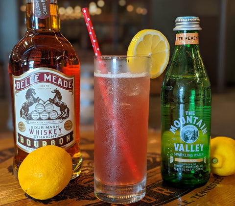 Berry Peach Spritzer featuring Belle Meade Bourbon
