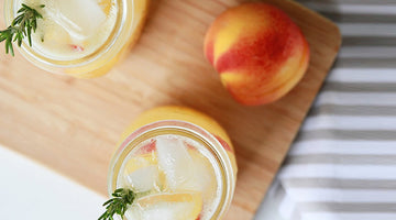 Sparkling Peach Rosemary Cocktail