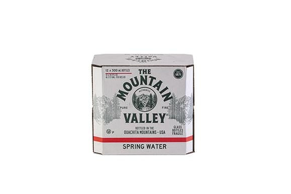 500 ML SPRING WATER IN GLASS (12 PACK)