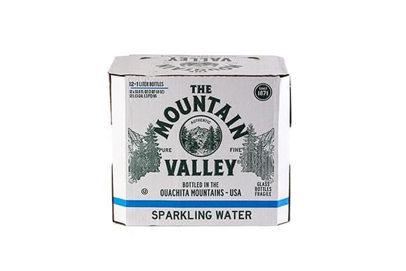 1 L SPARKLING WATER IN GLASS (12 PACK)