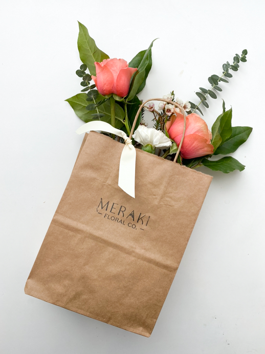 Flowers to Go Bag