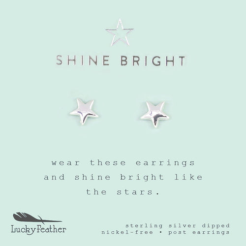 Shine Bright Star Earrings - Lucky Feather