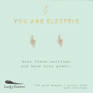 Electric Bolt Earrings - Lucky Feather