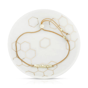 Honey Bracelet + Dish Set - Lucky Feather