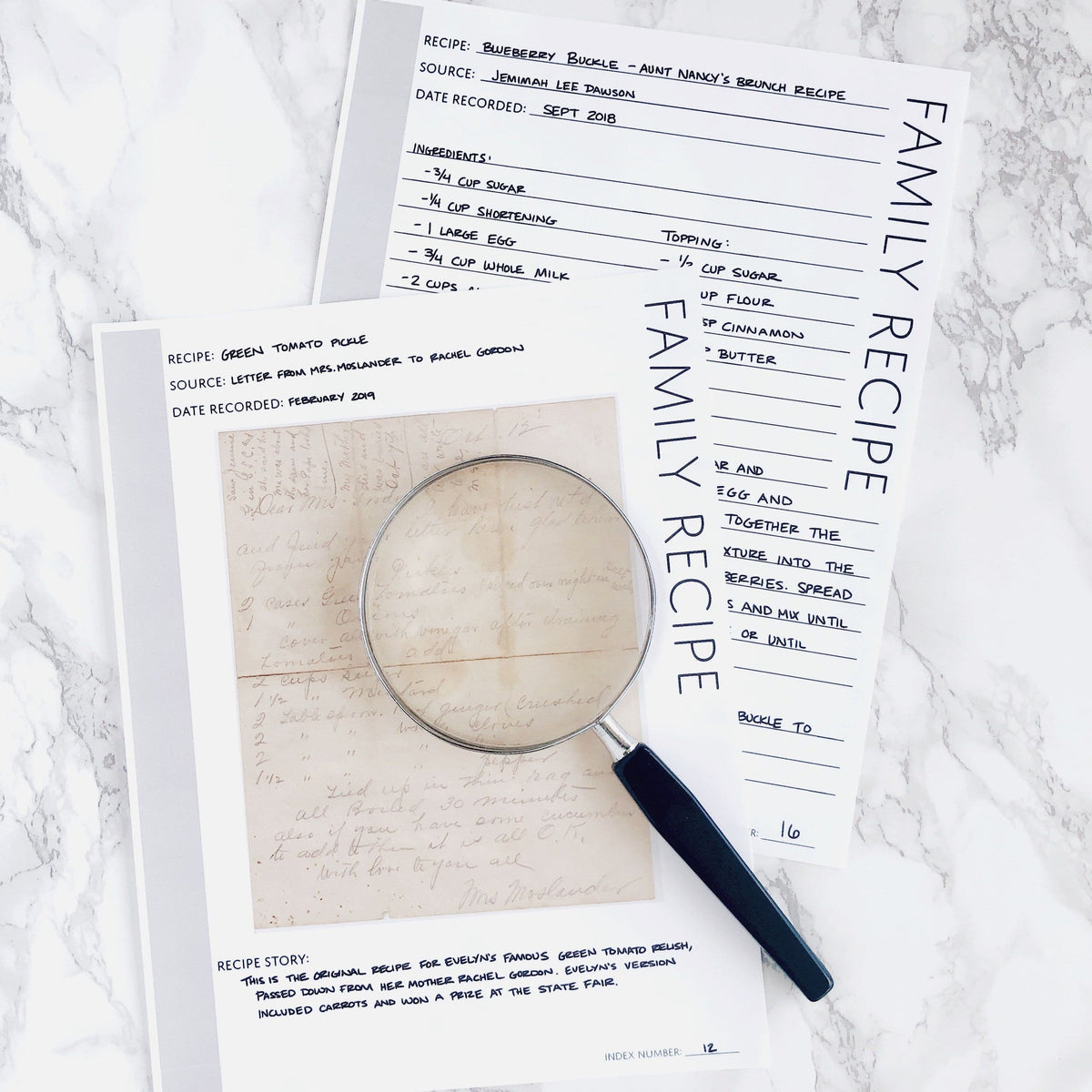 Family Recipe Page: Printable Genealogy Forms for Family History Binder (Digital Download)