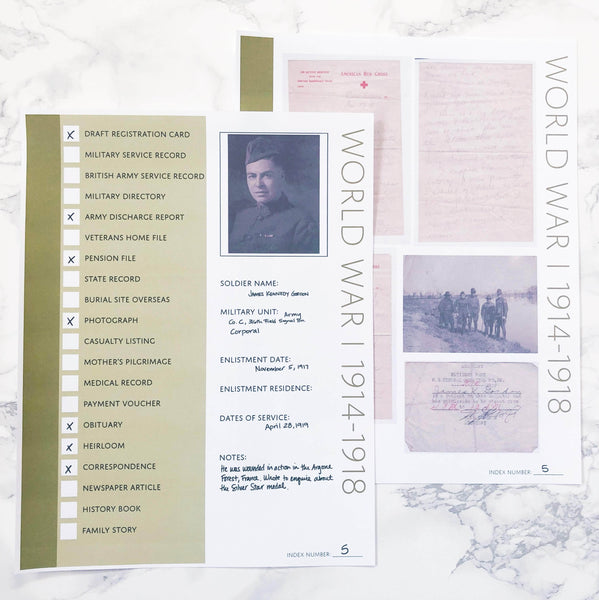 Deluxe 200 Page Family History Bundle - Olive (Digital Download)