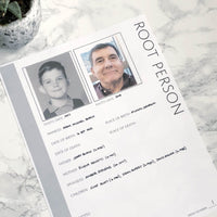 Root Person: Printable Page for Family Tree Notebook (Digital Download)