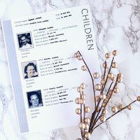 Children Page: Printable Genealogy Form for Family History Binder (Digital Download)