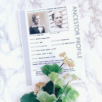 Ancestor Profile: Printable Genealogy Form (Digital Download)