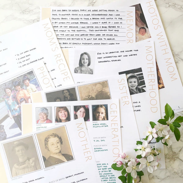 Mother's Day Family History Bundle - 23 Colors (Digital Download)