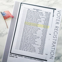 Voter Registration: Printable Genealogy Form for Family History Binder (Digital Download)