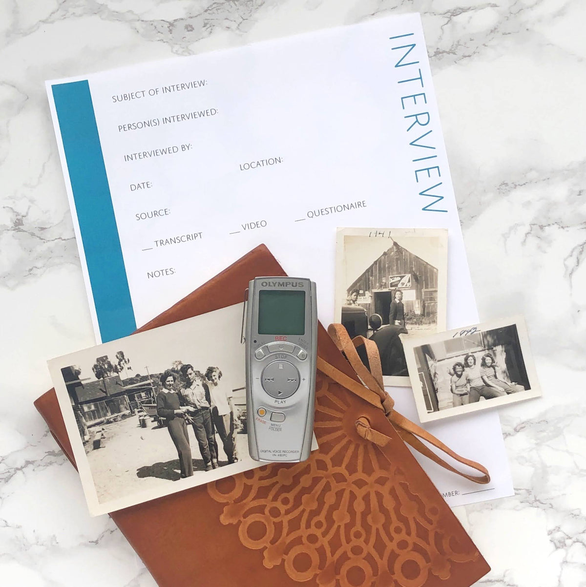 USA Deluxe 200 Page Ultimate Family History Bundle - Teal (Digital Download)