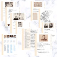 International Deluxe 200 Page Family History Bundle - Antique White (Digital Download) - Family Tree Notebooks