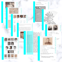 International Deluxe 200 Page Family History Bundle - Aqua (Digital Download)