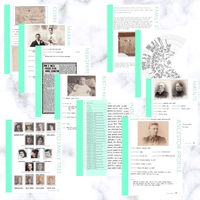 International Deluxe 200 Page Family History Bundle - Aquamarine (Digital Download)
