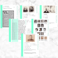 Core 50 Page Family History Bundle - Aquamarine (Digital Download)