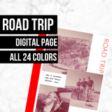 Road Trip Page: Printable Genealogy Form (Digital Download)