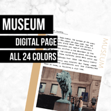 Museum Page: Printable Genealogy Form (Digital Download)