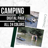 Camping Page: Printable Genealogy Form (Digital Download)