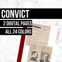Convict: Printable Genealogy Form (Digital Download)