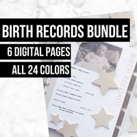 Birth Records: Printable Ancestry Form for Genealogy (Digital Download)