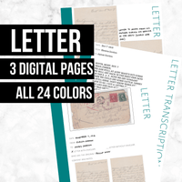 Letter Bundle: Printable Genealogy Forms (Digital Download)