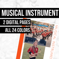 Musical Instrument: Printable Genealogy Form (Digital Download)