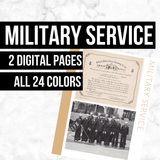 Military Service: Printable Genealogy Form (Digital Download)