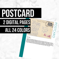 Postcard: Printable Genealogy Form (Digital Download)