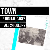 Town: Printable Genealogy Forms (Digital Download)