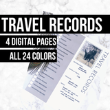 Travel Records: Printable Ancestry Form for Genealogy (Digital Download)