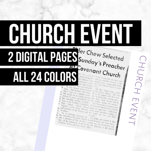 Church Event: Printable Genealogy Forms (Digital Download)