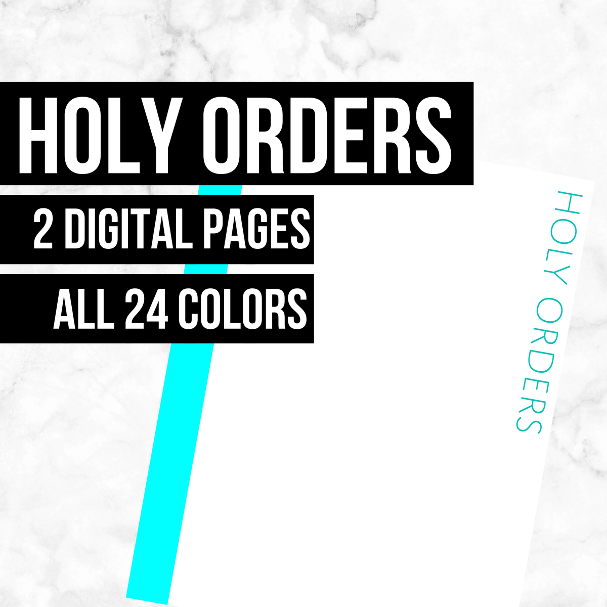 Holy Orders: Printable Genealogy Forms (Digital Download)