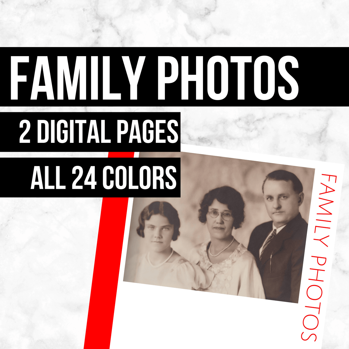 Family Photos: Printable Genealogy Form (Digital Download)