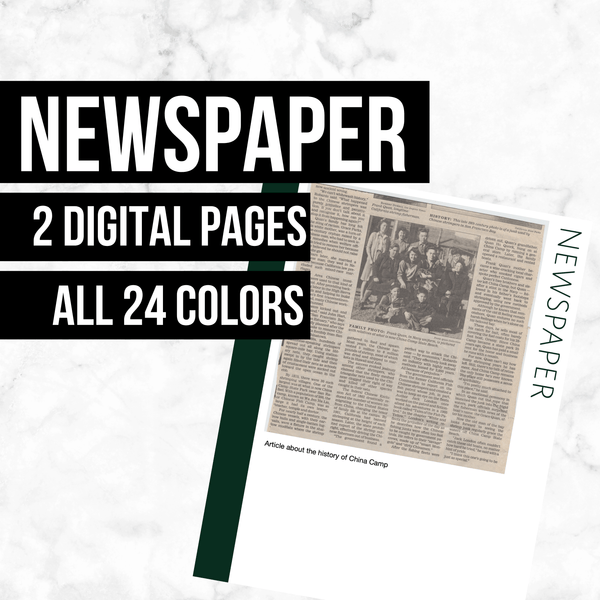 Newspaper: Printable Genealogy Form (Digital Download)