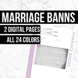 Marriage Banns: Printable Genealogy Form (Digital Download)