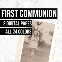 First Communion: Printable Genealogy Forms (Digital Download)