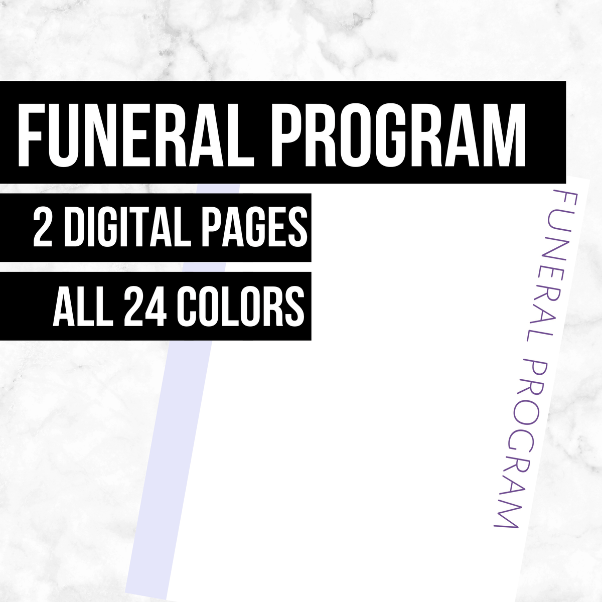 Funeral Program: Printable Genealogy Forms (Digital Download)