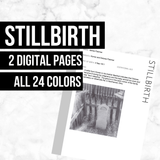 Stillbirth Pages: Printable Genealogy Form (Digital Download)