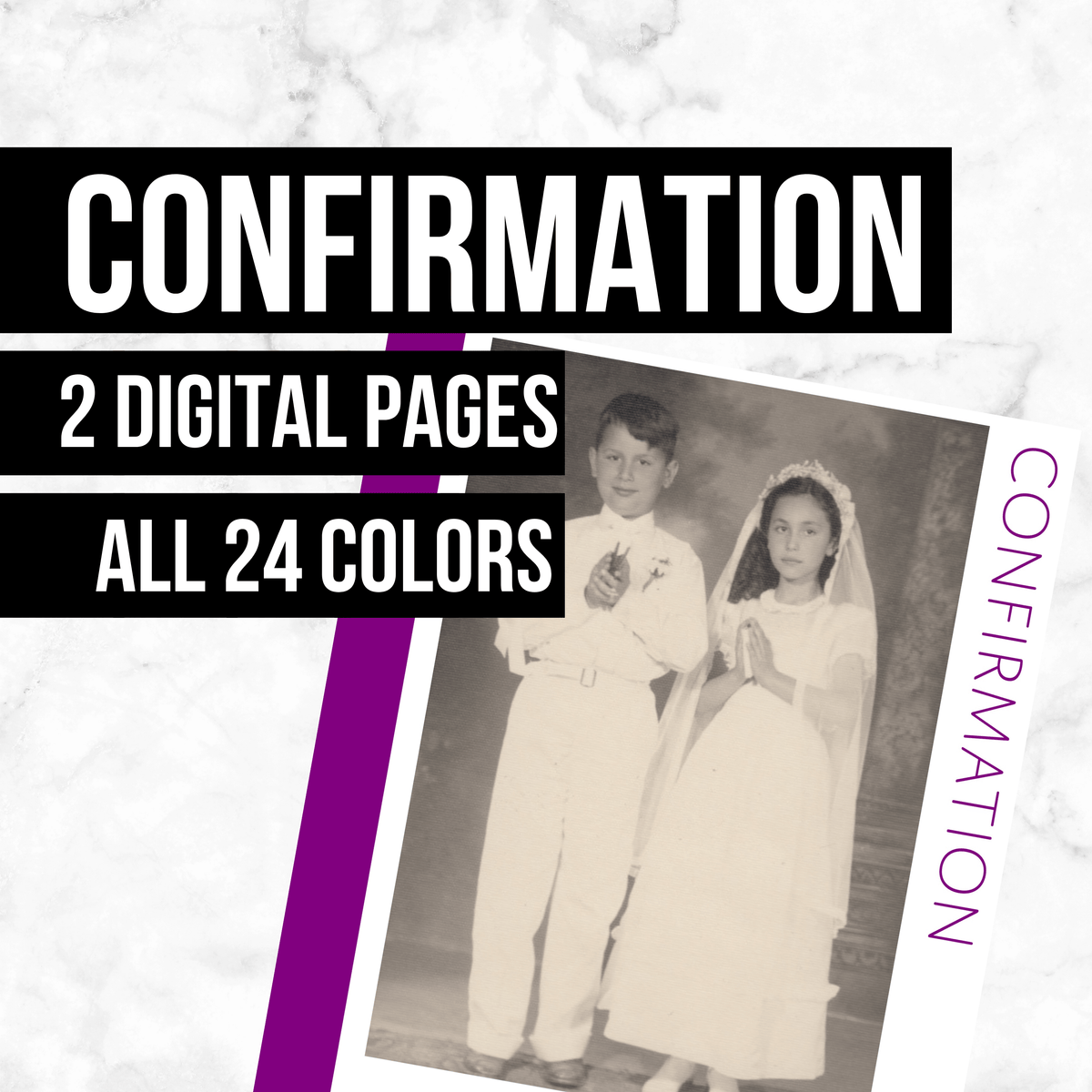 Confirmation: Printable Genealogy Forms (Digital Download)