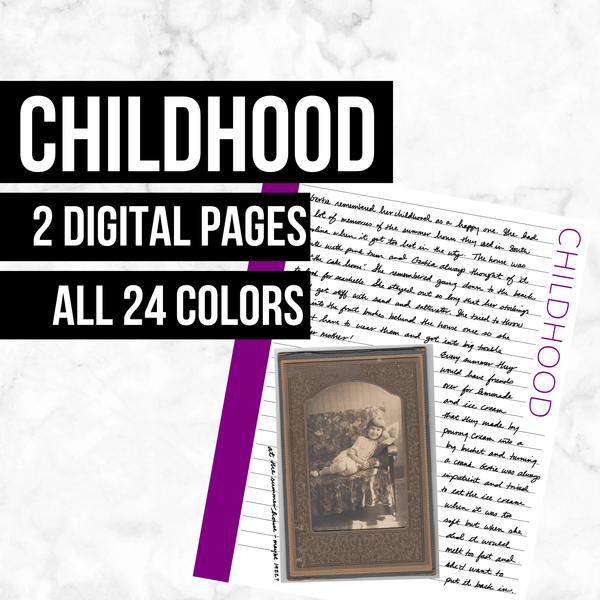 Childhood Pages: Printable Genealogy Form (Digital Download)