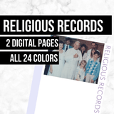 Religious Records: Printable Genealogy Forms (Digital Download)
