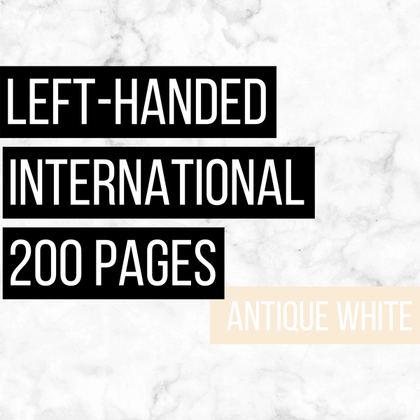 International Deluxe Left-Handed Family History Bundle - Antique White (200-Page Digital Download)