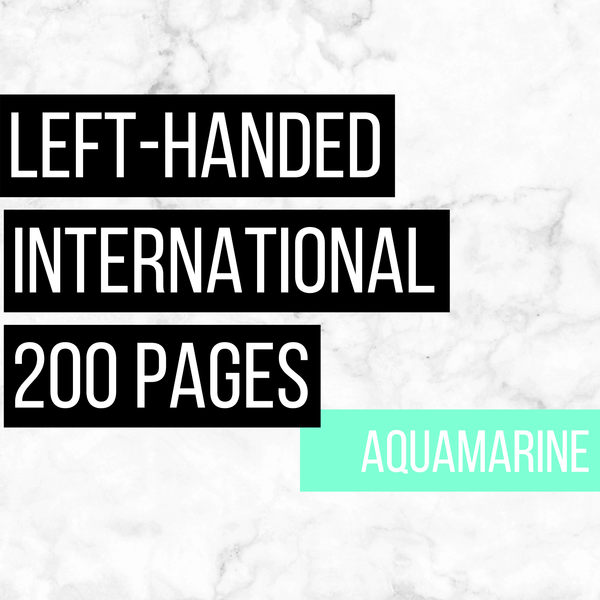 International Deluxe Left-Handed Family History Bundle - Aquamarine (200-Page Digital Download)