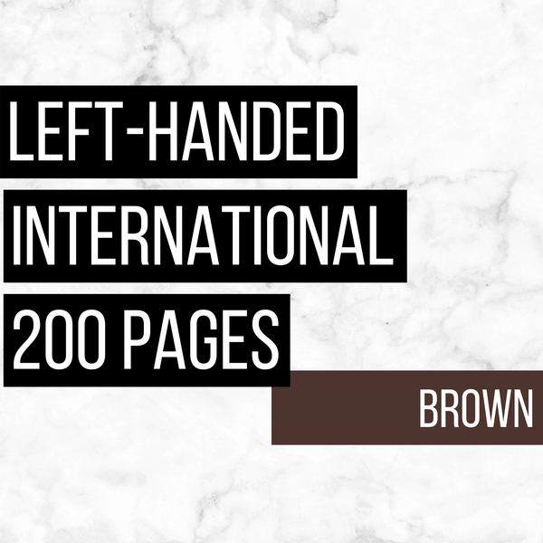 International Deluxe Left-Handed Family History Bundle - Brown (200-Page Digital Download)