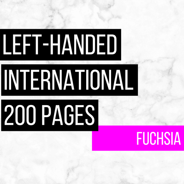 International Deluxe Left-Handed Family History Bundle - Fuchsia (200-Page Digital Download)