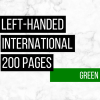International Deluxe Left-Handed Family History Bundle - Green (200-Page Digital Download)