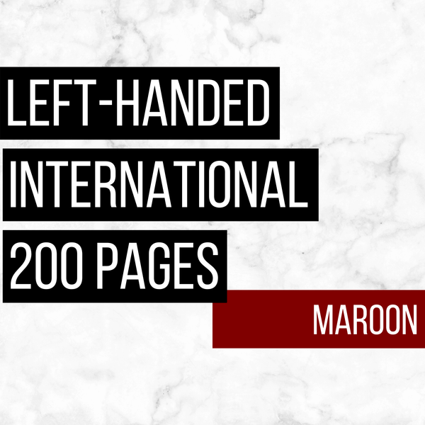 International Deluxe Left-Handed Family History Bundle - Maroon (200-Page Digital Download)